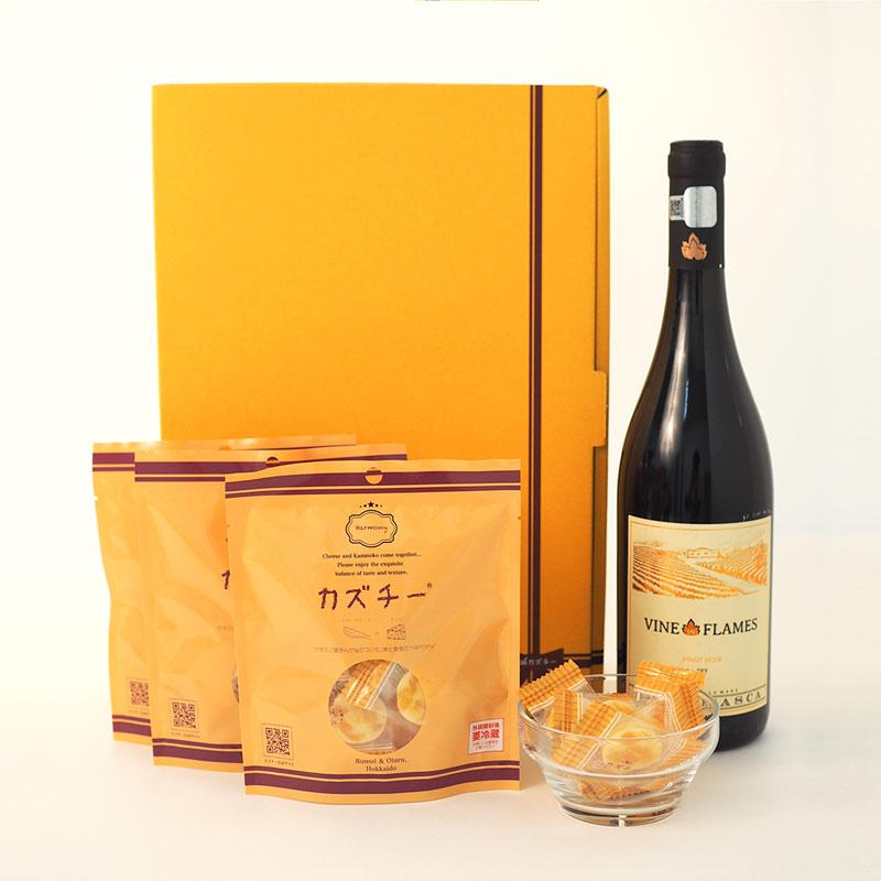 プレミアムギフト「カズチー3袋+選べるワイン」セット