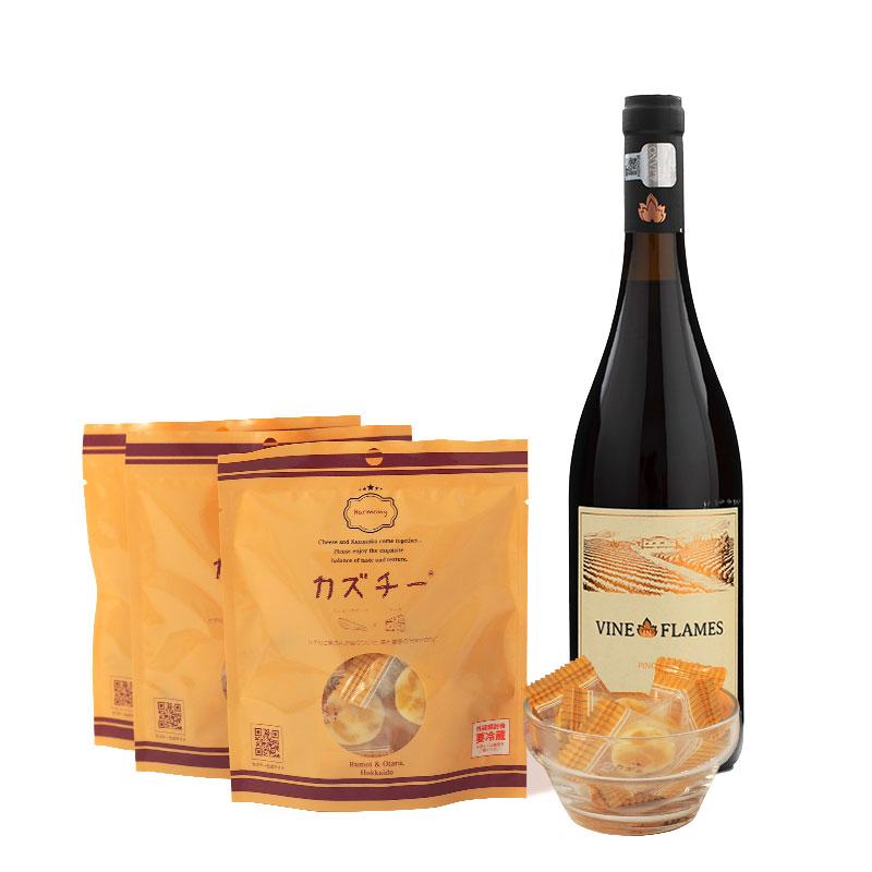 カズチー3袋+カズチースタッフ厳選「今月のワイン」定期便セット