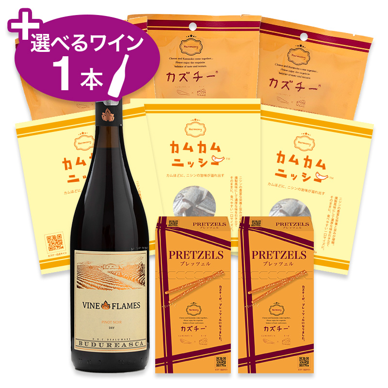 カズチーアソートセットS(3種8点)+選べるワイン1本セット