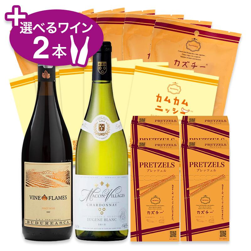カズチーアソートセットM(3種16点)+選べるワイン2本セット