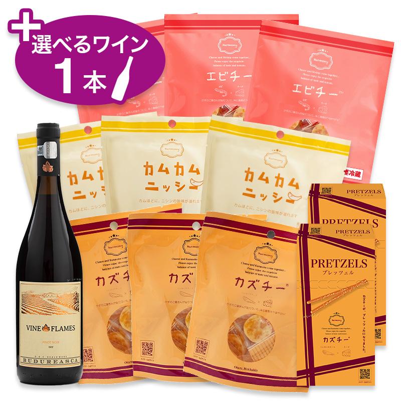 カズチーアソート4S(4種11点)+選べるワイン1本セット